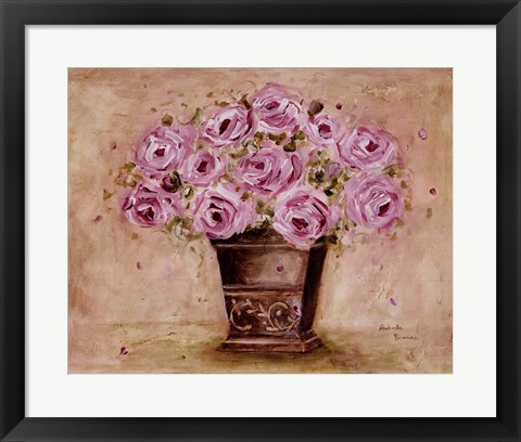 Framed Classic Pink Roses Print