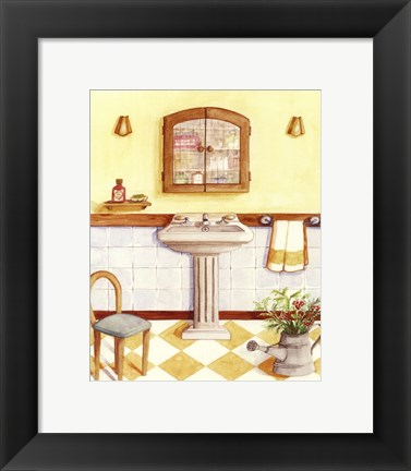 Framed Capital decor - Yellow Checks Print