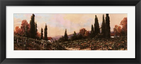 Framed Autumn Vineyard #1 Print
