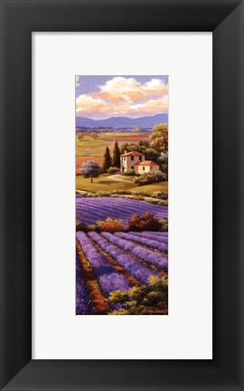 Framed Fields Of Lavender I Print