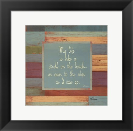 Framed Beaches Quotes II Print