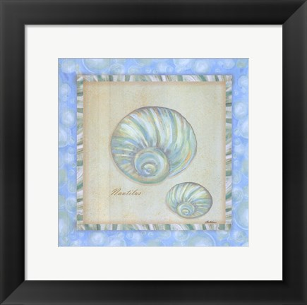 Framed Bubble Bath Shells I Print