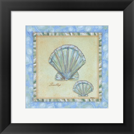 Framed Bubble Bath Shells II Print