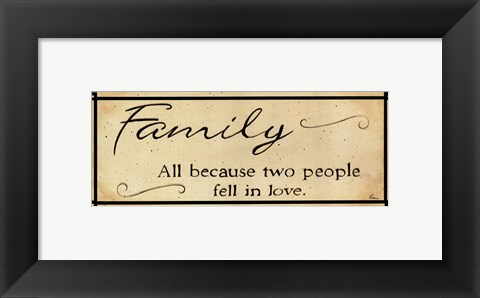 Framed Vintage Family Print
