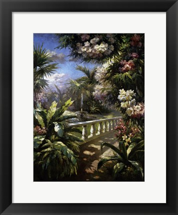 Framed Paradise Fountain Print