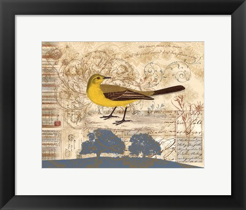 Framed Bird Brained I Print