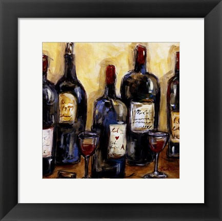 Framed Wine Bar Print