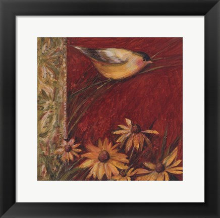 Framed Yellow Bird II Print