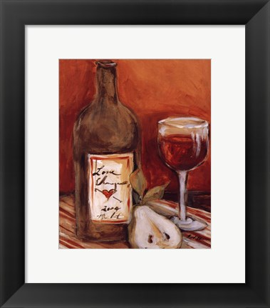 Framed Picnic With Red Wine Print