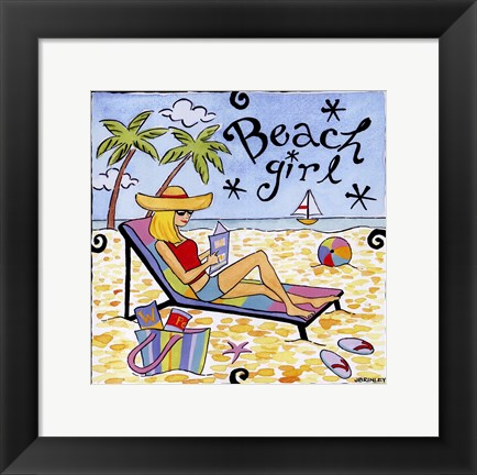Framed Beach Girl II Print