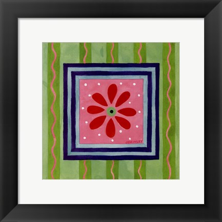 Framed Flower Power III Print