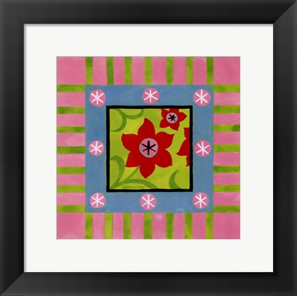 Framed Flower Power IV Print