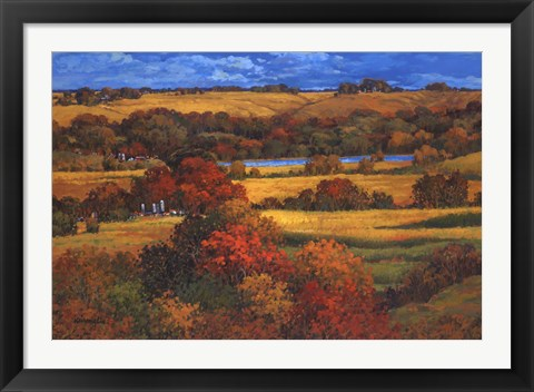 Framed Land of the Midwest Print