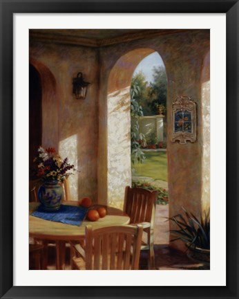 Framed Arches and Oranges Print