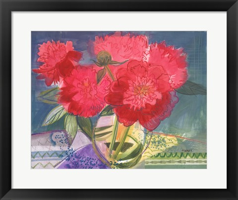 Framed Red Bouquet Print
