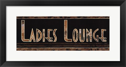 Framed Ladies Lounge Print