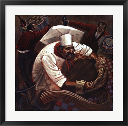 Framed Chefs in Motion III Print