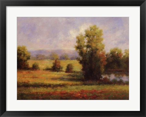 Framed Red Meadow I Print