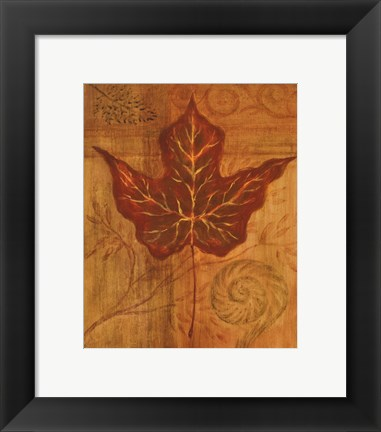 Framed Autumn Leaf I Print