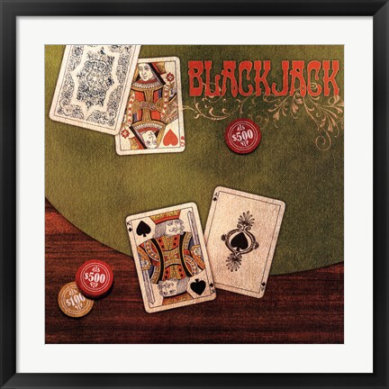 Framed Black Jack Print