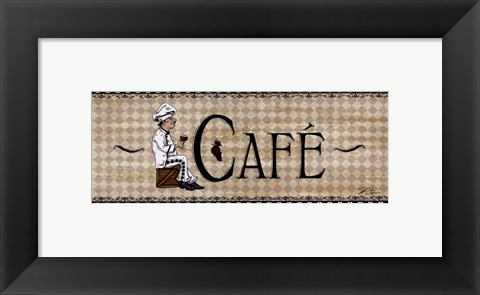 Framed Cafe' Print