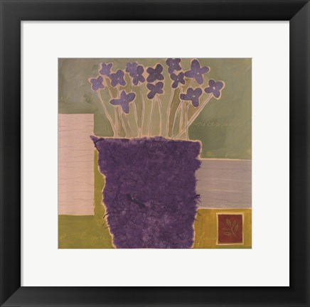 Framed Colors Of Provence II Print