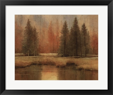Framed Meadow Pines Print