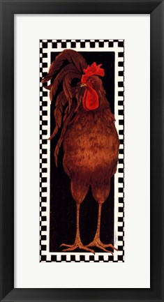 Framed Slim Chicken III Print