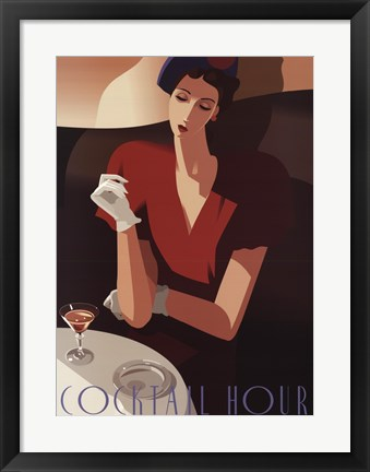 Framed Cocktail Hour Print