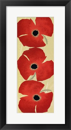 Framed Dancing Poppies Print
