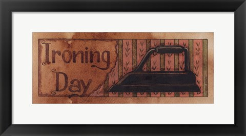 Framed Ironing Day Print