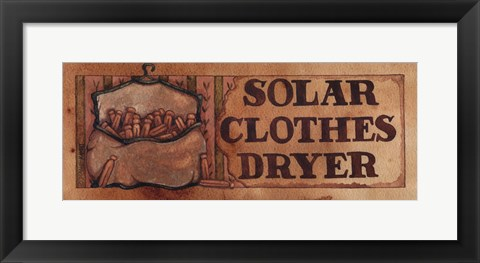 Framed Solar Clothes Dryer Print