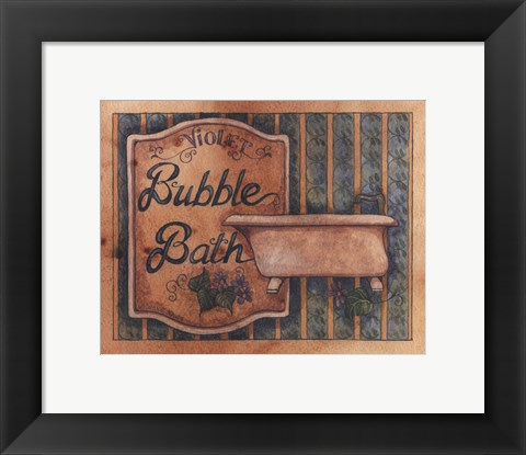 Framed Bubble Bath Print