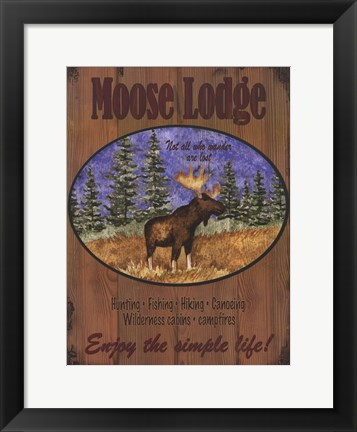 Framed Moose Lodge Print