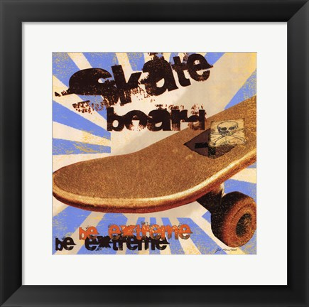 Framed Skateboard Print