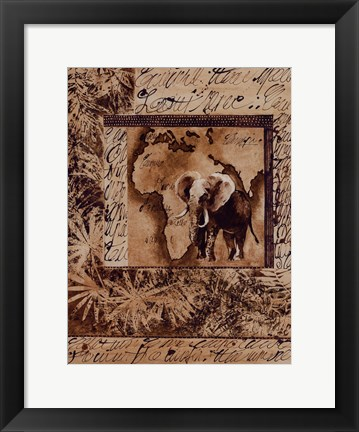 Framed Wild Kingdom I Print