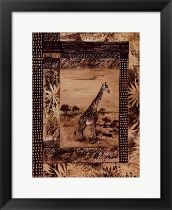 Framed Animal Safari ll Print