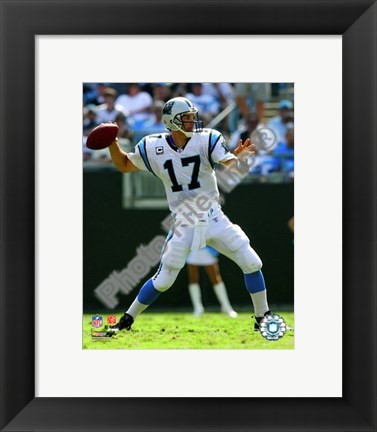 Framed Jake Delhomme 2008 Action Print