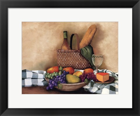 Framed Basket And Bowl Print