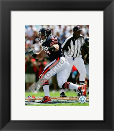 Framed Brian Urlacher 2008 Action Print
