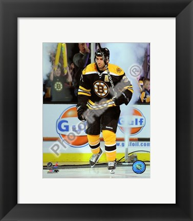 Framed Patrice Bergeron 2008-09 Introduction Print