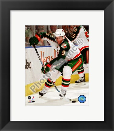 Framed Mikko Koivu 2008-09 Away Action Print