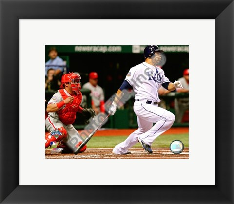 Framed Carlos Pena Game two of the 2008 MLB World Series Print