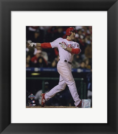Framed Chase Utley Game three of the 2008 MLB World Series Home Run Print