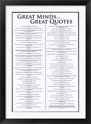 Framed Great Minds - Great Quotes Print