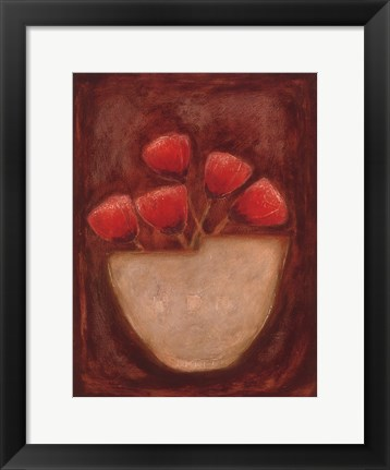 Framed Red Illusions II Print