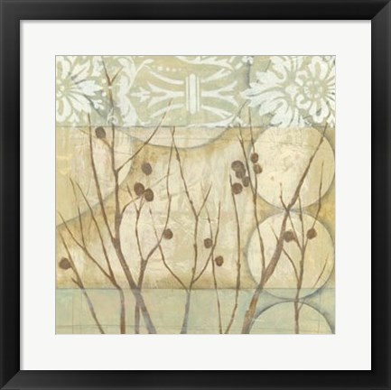 Framed Willow and Lace I Print