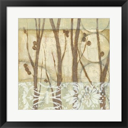 Framed Willow and Lace III Print