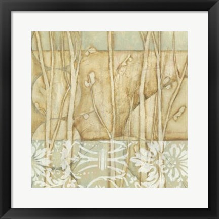 Framed Willow and Lace IV Print
