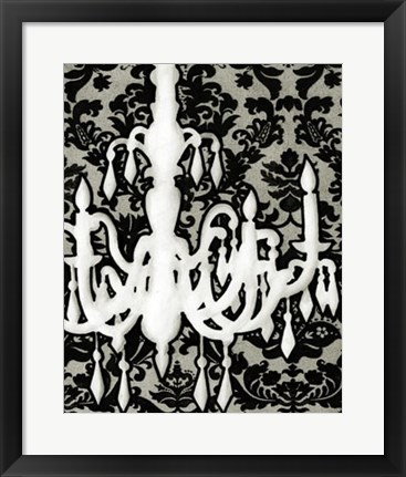 Framed Patterned Chandelier II Print